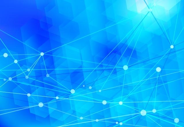 青のネットワークイメージ